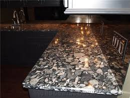 3cm thick polished black marinace granite bedrock counters with 1 4