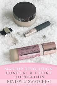 makeup revolution conceal define foundation review swatches hayleyxmartin