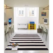 office nice black and white stripe rug 29 nom 16 1 black and white