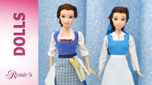 Belle Blue Dress Pattern Inspiration Beauty And The Beast Belle's Makeover Part 48 Blue Dress YouTube