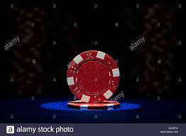 Light Blue Poker Chips Closeup Of Poker Chips On Blue Felt Card Table Surface With