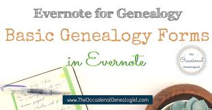 Genealogy Form Templates Basic Genealogy Forms In Evernote The Occasional Genealogist