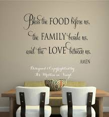 bless the food vinyl lettering wall decal words home kitchen art wall stickers faith e trend kitchen wall sayings