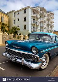 1956 Chevrolet Bel Air American car with typical fifties wings and ...