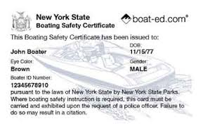 Boat Boating Safety Card Ed® New Course Education York amp;