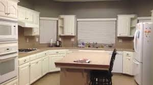 Painting Kitchen Unit Doors Diy Painting Oak Kitchen Cabinets White Youtube