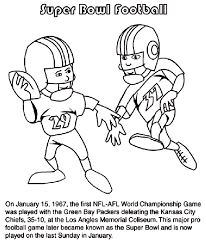 Small Picture First Super Bowl Football Game Coloring Page crayolacom