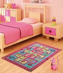 kids childrens pink hopscotch rugs rug mat in modern design for play mat