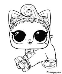 Pet Royal Kitty Cat Coloring Page Lol Dolls Cat Coloring