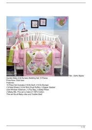 soho mystic garden baby crib nursery