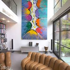 Large Living Room Paintings Large Modern Art For Sale And Big Abstract Paintings By Swarez