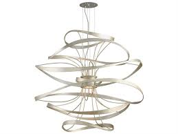 corbett lighting calligraphy silver leaf polished stainless two light 42 wide led