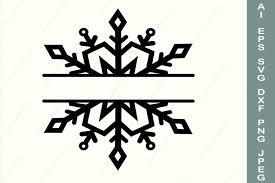 Freesvg.org offers free vector images in svg format with creative commons 0 license (public domain). Snowflake Frame Svg Split Monogram Svg Christmas Border 895167 Illustrations Design Bundles