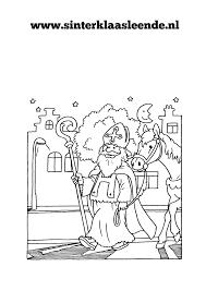 Kleurplaten Sinterklaas Leende