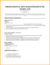 Sample Resume For Housekeeping Job. Housekeeping Sample Resume .