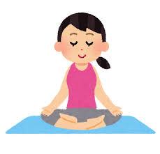 ヨガのイラスト「瞑想」 | かわいいフリー素材集 いらすとや