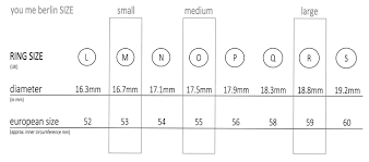 Ring Size Chart Circumference Mm Ring Size Chart You Me Berlin