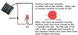 simple led circuit techdose com when building the circuit just make certain that you have the led oriented properly anode to cathode as in the schematic since leds are polarity sensitve