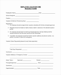 Vacation Request Forms For Employees Employee Holiday Request Form Template Radiofama Eu