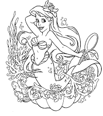 Small Picture New Princess Mermaid Coloring Pages 96 About Remodel Coloring