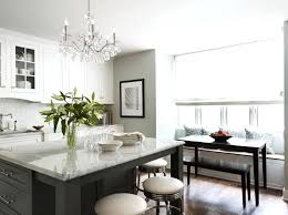 kitchen crystal chandelier crystal chandelier for kitchen island with white granite and gray wall paint color