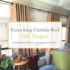 extra long curtain rod diy project house hart travel and extra long curtain rod extra long