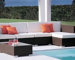 sunbrella cushions for the winter caluco wicker furniture dijon collection