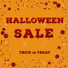 halloween sale flyer design of the flyer with halloween sale inscription on pumpkin