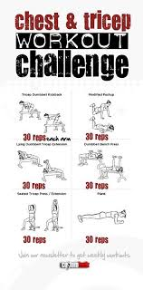 chest and triceps workout challenge