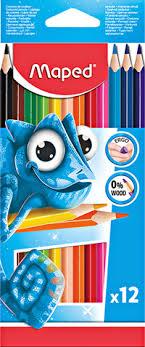 <b>Карандаши цветные MAPED</b> Пластиковые <b>Maped</b> 12цв.трехгран ...
