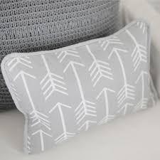 gray throw pillows. Fine Gray Gray Arrow Pillow  Wanderlust In Crib Collection And Throw Pillows R