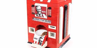 When Were Vending Machines Invented Custom Lego KFC Chicken Machine Business Insider