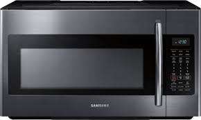 samsung black stainless steel. Samsung - 1.8 Cu. Ft. Over-the-Range Microwave With Sensor Cooking Black Stainless Steel E