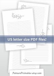 Lined Paper Pdf Awesome Printable Letter Writing Paper Digital Download For Pdf File Etsy