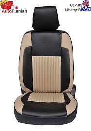 kvd dura leather car seat cover car sc s 00137 for hyundai santro ls zip drive black beige in car motorbike