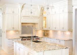 Kashmir White Granite Kitchen Kitchen Awesome White Kitchen Cabinets With Granite Countertops