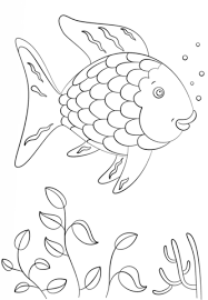 rainbow fish coloring page