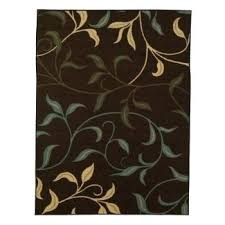 leaf pattern area rugs collection contemporary leaves design modern rug with non skid rubber backing brown