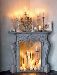 faux fireplace logs with candles ideas