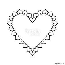 valentine day heart decorative outline vector ilration eps 10