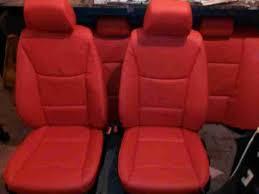 bmw e90 red leather interior