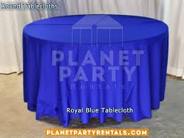 royal blue tablecloth for 60 round table