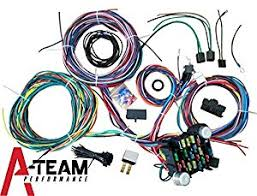 amazon com a team performance 21 standard circuit universal Universal Wiring Harness a team performance 21 standard circuit universal wiring harness muscle car hot rod street rod new xl wire universal wiring harness kits