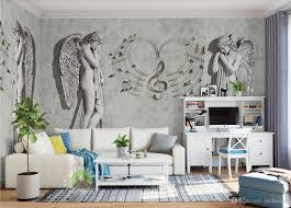 Großhandel Moderne Kurze 3d Wallpaper Wandbilder Moderne Mode Engel