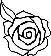 13 flower clip art black and white