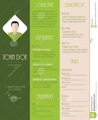 modern resume curriculum vitae in green stripes stock vector modern resume curriculum vitae in green stripes
