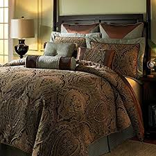 Hampton Hill Canovia Springs King Size Bed Comforter Set Bed In A Bag    Teal,