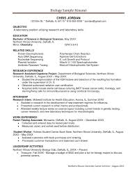 Biology Resume Template Best Bio Resume Samples Engneeuforicco