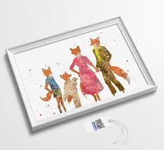 <b>Mr Fox</b> Minimalist <b>Watercolor</b> Art Print Poster Wall Art | Etsy