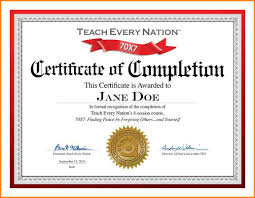 6 Completion Certificate Jpg Primary Write